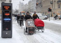 Winter cycling in Denmark. Click image for more copyright-free images via @CyclingEmbassy and visit the slowottawa.ca boards >> http://www.pinterest.com/slowottawa/