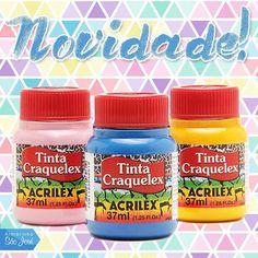 Já disponível no www.armarinhosaojose.com.br!  Para criar o efeito craquelado em gesso, madeira, cerâmica ou tela. Confira!  #armarinho #artemanual #artesanato #criatividade #pintura #colors #acrilex