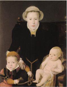 Dyptych of Adriaan van Santvoort and Anna Van Hertsbeeke and Their Children Guillaume, Adriaan, Catharina and Jan Baptiste Bernard de Rijckere, 1563