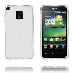 Storm (Hvit) LG Optimus 2X Deksel Cover, Phone, Silicone Rubber, Telephone, Blankets, Mobile Phones