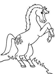 Dibujo para colorear de caballos (nº 2)