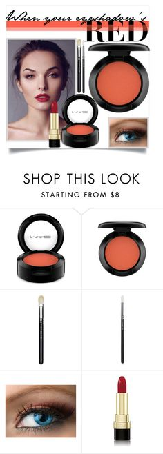 """""""Red Eye Makeup"""" by karolineacc ❤ liked on Polyvore featuring beauty, Smashbox, MAC Cosmetics, Dolce&Gabbana and redeye"""
