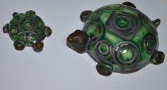 Hand made ceramic turtles