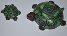 Hand made ceramic turtles