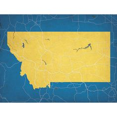 Montana - City Prints Map Art