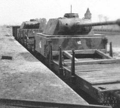 German Panther tank turrets used on an armored train...
