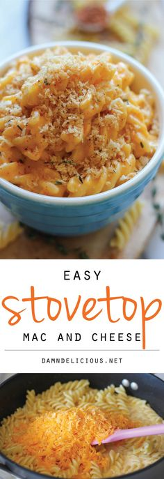 Stovetop Mac and Cheese - A quick and easy. no-fuss mac and cheese made in less than 30 min. Comfort food never tasted so good!
