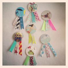 washi tape mini badges