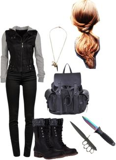 """""""MY Hunger Games Outfit"""" by mcl217 ❤ liked on Polyvore"""