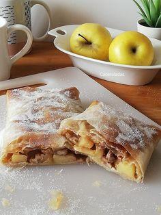 Pasta Filo, Empanadas, Dessert Drinks, My Recipes, French Toast, Deserts, Tasty, Nutrition, Sweets