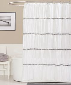 Take a look at this White Twinkle Shower Curtain by Triangle Home Fashions on #zulily today!