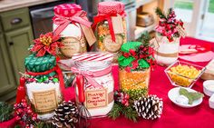 ".@Home Family  #CountdowntoChristmas Festive ""Foodie"" Gifts in Mason Jars 