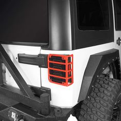 Jeep Wrangler Accessories - Tail Light Guards Red Rear Taillight Covers for 2007-2018 Jeep Wrangler JK and Unlimited JKU - Pair C10 Chevy Truck, Lifted Ford Trucks, Chevy Trucks, Jeep Wrangler Lights, Jeep Wrangler Tj, White Jeep, Jeep Wrangler Accessories, Jeep Gladiator, Light Covers