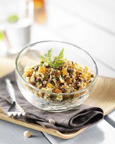 Verrine sans gluten Quinoa et Lentilles aux Carottes