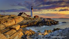 Portland Head Lighthouse at Sunrise, Maine