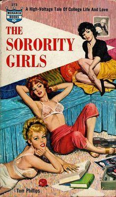 Lesbian interest 1962 cover art The Sorority Girls 8 x 10 image reproduction. by BigPhilsEmporium on Etsy https://www.etsy.com/listing/236259412/lesbian-interest-1962-cover-art-the