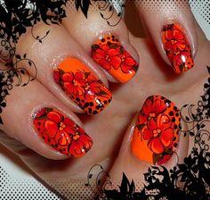 Bornprettystore Floral Water Decal Nail Design