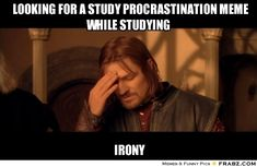 Looking for study meme whilst studying - irony