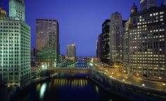 The Spa at the Trump International Hotel & Tower Chicago has views of the Windy City's skyscrapers, bridges over the Chicago River, and Lake Michigan, and guests are encouraged to come 45 minutes before their treatment to take it all in. (Courtesy The Spa at the Trump International Hotel & Tower) From: See the Incredible Views at These 13 Spas.  « BACK
