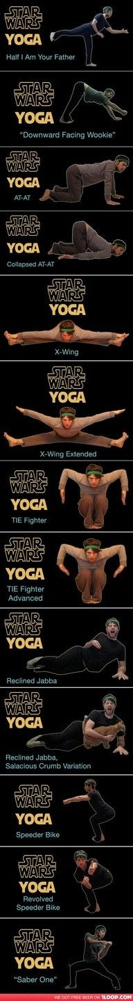 Star Wars #yoga - may the force (of gravity) be with you... For yogis and non yogis that don't take themselves and sometimes their practice too seriously...