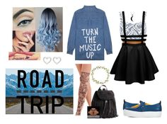 99->Road Trip by dimibra on Polyvore featuring Jac Vanek, River Island, Joshua Sanders, H&M, Marc by Marc Jacobs, Carolina Glamour Collection, Carole, white, yellow and Blue