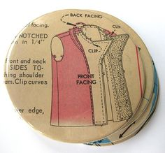 Vintage Sewing Pattern Coasters - good use of orphaned sewing pattern pieces.