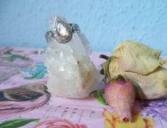 ☆ Sterlingsilberring mit Morganit und Weißtopas  ☆ von Cafe-bijoux auf DaWanda.com
