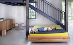 "Beds – The patented design gives an impression of the bed hanging in the air. A massive frame – 1,5"" of solid wood – gives a sense of security and comfort. Modern design combined with noble material, a simple and aesthetic form. – Modern home design, bedroom, unique furniture, solid wooden bed - a unique product by mazzivodirect-uk via en.dawanda.com"