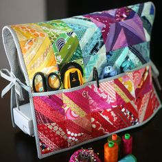 String Pieced Sewing Machine Cover