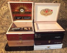 Acid Wooden Cigar Boxes Purses Crafts Jewelry Boxes Storage