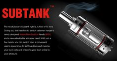 Kangertech Sub Tank Wrap your own coils, or buy factory ready coils!! The revolutionary Kangertech Sub Tank! A first of its kind. Giving you the freedom to switch between Kanger's newly designedOrganicCotton Coil heads (OCC)and a new rebuildable atomizer head. OCC make use of organic cotton as wick whichis much [...]