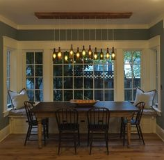 I think I could do this on a smaller scale in the dinette since it will be wine themed