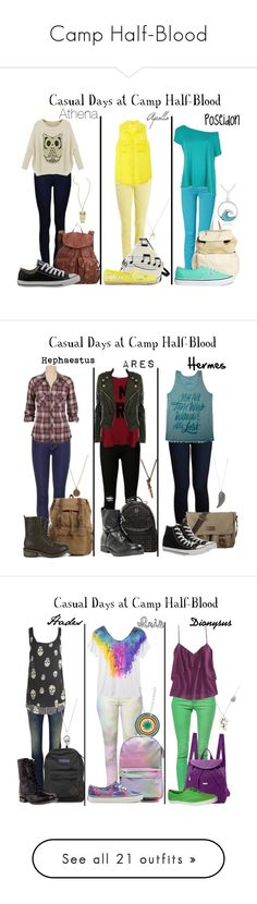 """""""Camp Half-Blood"""" by disneygirl2820 ❤ liked on Polyvore featuring Ally Fashion, dELiA*s, Converse, Cheap Monday, Equipment, Rebecca Minkoff, Glitzy Rocks, 7 For All Mankind, Pieces and Vans"""