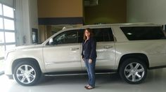 Congratulations to Ronda Bullard with Production Speciality on her new Silver Coast 2015 Cadillac Escalade ESV! Ronda and her husband, Shane, purchased their new ride from Melanie Peterson at Greiner Buick GMC Cadillac! Wave if you see them cruising around town! Give Melanie a call at (307)577-7252 to see how she can assist you, too! #2015 #Cadillac #Escalade #ESV  http://www.greinerbuickgmccadillacblog.com/