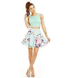 B Darlin Beaded Illusion HighNeck Party Dress #Dillards ...