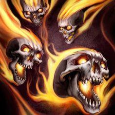 Screamin' Skulls by GreyThornberry