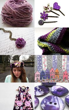 my hand dyed purple threads featured here