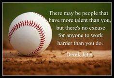 Baseball quotes and sayings for inspiration and motivation. Baseball quotations for youth baseball teams, coaches and team parents. New York Yankees. Videos Yoga, Sports Party, Kids Sports, Sport Quotes, Girl Quotes, Baseball Mom, Baseball Stuff, Baseball Equipment, Manish