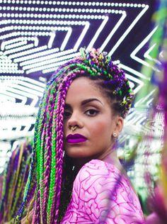 multi colour box braids black women - Google Search
