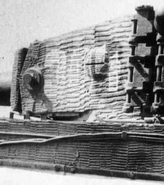Zimmerit details on a Tiger 1 turret