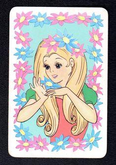 Items for sale by bonza-cards-australia Pretty Blonde Girls, Pretty Girls, Kawaii Art, My Memory, Famous Artists, Vintage Japanese, Pretty Woman, Flower Power, Aurora Sleeping Beauty