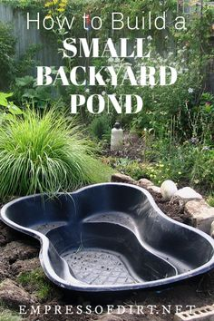 Tips for Starting a Small Garden Pond What to know before you build a garden pond. Tips for inground and above ground fish ponds.What to know before you build a garden pond. Tips for inground and above ground fish ponds. Small Backyard Ponds, Outdoor Ponds, Backyard Water Feature, Backyard Ideas, Small Patio, Back Yard Pond Ideas, Outdoor Fountains, Walkway Ideas, Patio Pond