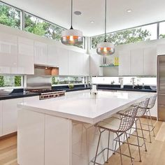 Light up any space in modern Nordic style with this stunning hanging glass pendant light! Contemporary Kitchen, Kitchen Remodel, Kitchen Design, Traditional Kitchen, Modern Kitchen, Home Decor Kitchen, Glass Pendant Light, Kitchen Layout, Kitchen Window Design