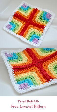 Pieced Dishcloth Free Crochet Pattern Crochet Crafts Homedecor