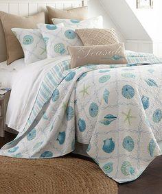 This Blue Marine Dream Seaglass Quilt Set is perfect! #zulilyfinds