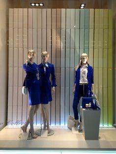 Luisa Spagnoli blue collection 2015 - Milan fashion windows Retail Windows 9526c018981