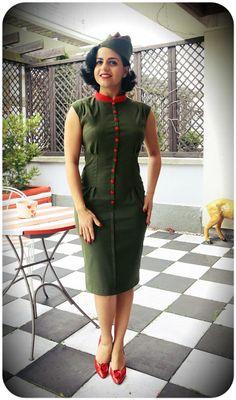 Military inspired Anastassia Dress http://www.raspberryheels.com/shop/produkt,en,dresses,sukienka-anastassia-green.html