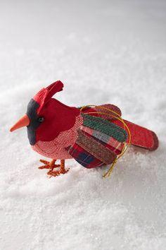 Cardinal Christmas Ornament, 10cm L, 7.5cm W