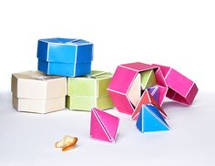 Fortune Cookie origami package on Behance