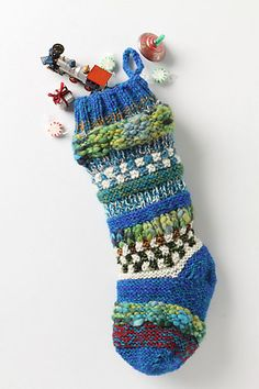 Anthropologie Christmas Stocking